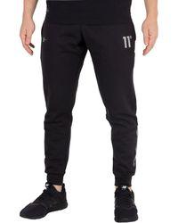 11 Degrees - Men's Reflective Joggers, Black Men's Sportswear In Black - Lyst