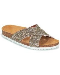 Le Temps Des Cerises | Falone Women's Mules / Casual Shoes In Gold | Lyst