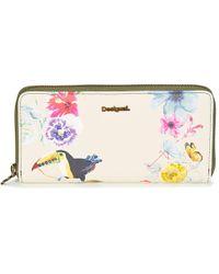Desigual - Mone_fiona Lilac Women's Purse Wallet In Multicolour - Lyst