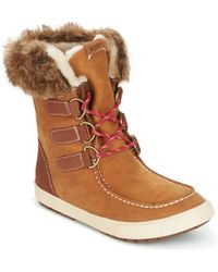 Roxy - Rainier J Boot Brn Women's Snow Boots In Brown - Lyst