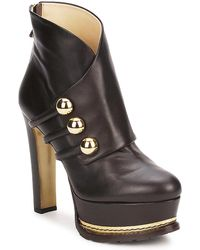 Moschino - Ma2104 Women's Low Ankle Boots In Brown - Lyst