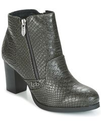 Les P'tites Bombes - Baltimore Women's Low Ankle Boots In Grey - Lyst
