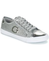 Guess | Elly Women's Shoes (trainers) In Silver | Lyst