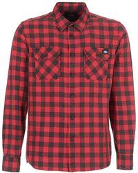 Dickies - Rock Hall Men's Long Sleeved Shirt In Red - Lyst