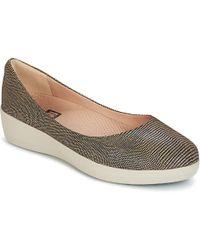 a6b77904733 Fitflop - Lizard Print Superballerina Women s Shoes (pumps   Ballerinas) In  Brown - Lyst
