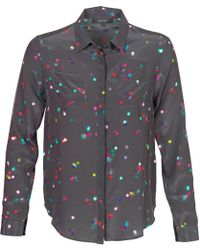 American Retro - Holly Women's Shirt In Black - Lyst