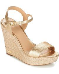 MICHAEL Michael Kors - Jill Wedge Women's Sandals In Gold - Lyst