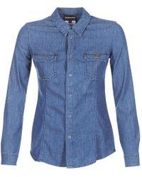 Emporio Armani - Mora Women's Shirt In Blue - Lyst
