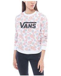 Vans - Jersey De Cuello Redondo Poppy Dream In6p32 Women's Sweatshirt In Beige - Lyst