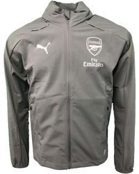 431f9887493c PUMA - 2018-2019 Arsenal Hooded Rain Top (iron Gate) Women s Jacket In