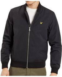 Lyle & Scott - Lyle And Scott Nylon Bomber Jacket Men's Jacket In Black - Lyst