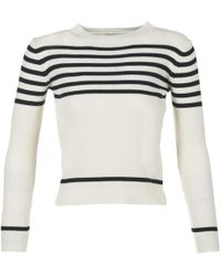 Loreak Mendian - Juxtu Women's Sweater In White - Lyst