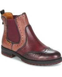 Pikolinos - Santander W4j Women's Mid Boots In Red - Lyst
