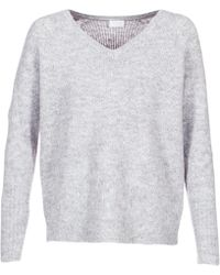 Vila - Viplace Women's Jumper In Grey - Lyst