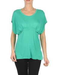 Volcom - Simple Stone Yoke Tee Women's T Shirt In Green - Lyst
