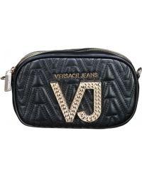 9f718b00ed Versace Jeans - Sac femme à zip femmes Pochette en Noir - Lyst