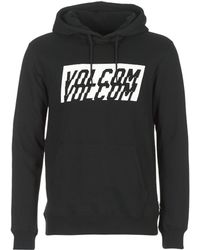 Volcom - Supply Stone Po Men's Sweatshirt In Black - Lyst