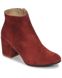 Emma Go - Elna Women's Low Ankle Boots In Red - Lyst