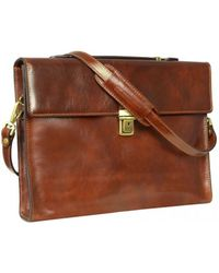 Time Resistance - Moonheart Men's Briefcase In Brown - Lyst
