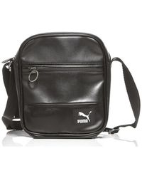 PUMA - Originals Portable Women s Shoulder Bag In Black - Lyst 13ad805d48a46