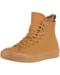 Converse - Men's Ct All Star Hi Wp Leather Boots, Brown Men's Mid Boots In Brown - Lyst