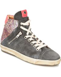 Janet & Janet - Janou Women's Shoes (high-top Trainers) In Grey - Lyst