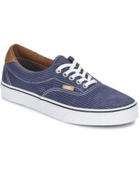 Vans Navy Floral Checker Liberty Print Era Trainers in Blue for Men ... 8de52137b