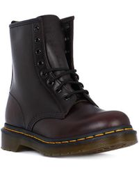 Dr. Martens - 1460 Smooth Vintge Red Men's Mid Boots In Red - Lyst