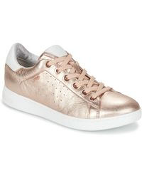 Geox - Jaysen A Women's Shoes (trainers) In Gold - Lyst