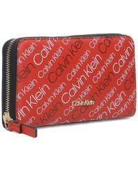 Calvin Klein Jeans - K60k604368901 Women's Purse Wallet In Red - Lyst