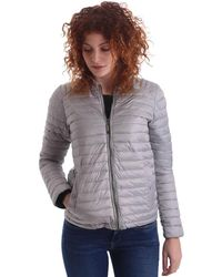 Byblos Blu - 669101 Down Jacket Women Grey Women's Coat In Grey - Lyst