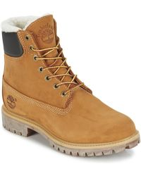 Timberland - 6 In Premium Fur/warm Lined Boot Men's Mid Boots In Beige - Lyst
