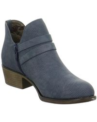 S.oliver - 552530437805 Women's Low Ankle Boots In Blue - Lyst