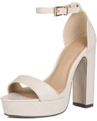 ec362663121 TOPSHOP Laura Woven Block Heel Sandal (women) in Black - Lyst