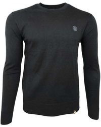 Pretty Green - Crew Neck Knitted Jumper Men's Jumper In Black - Lyst