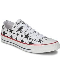 Converse - Chuck Taylor All Star Multi Star Print Ox Women's Shoes (trainers) In White - Lyst