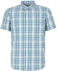 Quiksilver - Everydaycheckss M Wvtp Bkw1 Men's Short Sleeved Shirt In Blue - Lyst