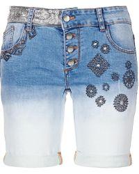 Desigual - VLADEMU femmes Short en bleu - Lyst