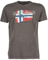 Napapijri - Slood Crew Men's T Shirt In Grey - Lyst
