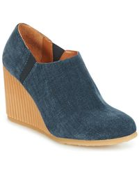 ad48d366fde55 Geox Amelia Stivali Wedge Ankle Boots in Gray - Lyst