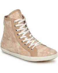 Apepazza - Lesley Women's Shoes (high-top Trainers) In Beige - Lyst