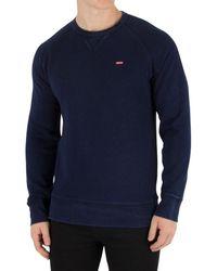 Levi's - Levis Men's Original Icon Sweatshirt, Blue Men's Jumper In Blue - Lyst