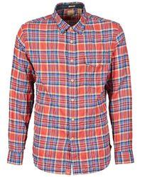 Dockers - The Twill Wrinkle Shirt Men's Long Sleeved Shirt In Multicolour - Lyst