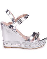 15a4d49f1c1b Linzi - Carmen Women s Sandals In Silver - Lyst