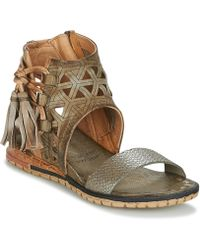A.S.98 - Punch Women's Sandals In Green - Lyst