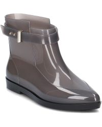 Melissa - Francoise Jason Wu Women's Wellington Boots In Grey - Lyst