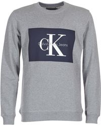 Calvin Klein - HOTORO REGULAR hommes Sweat-shirt en Gris - Lyst