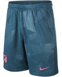 Nike - 2017-2018 Atletico Madrid Third Football Shorts Women's Shorts In Blue - Lyst