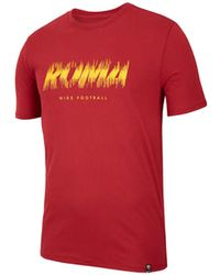 Nike - 2018-2019 Roma Dry Pre Season Tee (crimson) Women's T Shirt In Red - Lyst