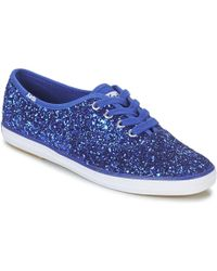 Keds - Champion Glitter Women's Shoes (trainers) In Blue - Lyst